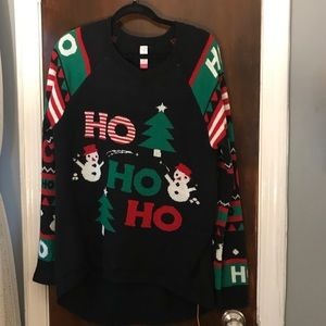 Ugly Christmas sweater 😉🎄🎅🏽 That lights up!